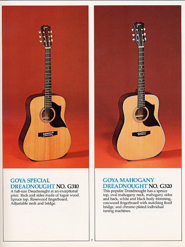 Vintage Goya Guitars
